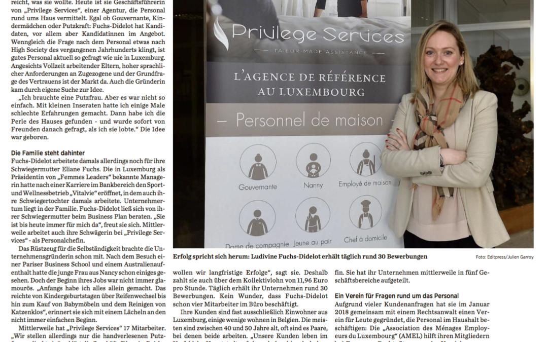 Article de presse – Lëtzebuerger Journal – 10/04/2018